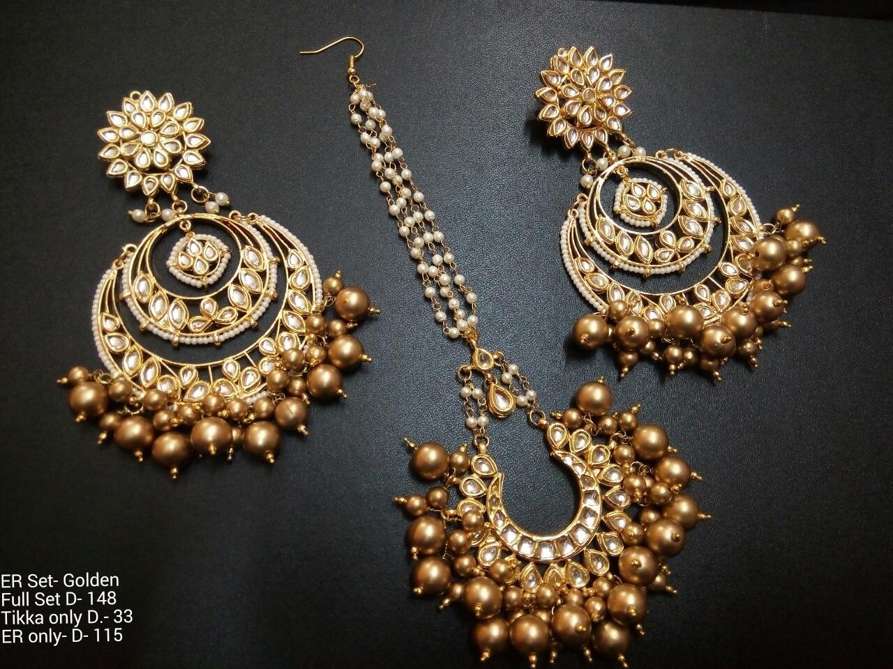 Indian Earring & Tika Set