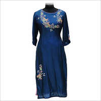 Round Neck Embroidery Kurtis