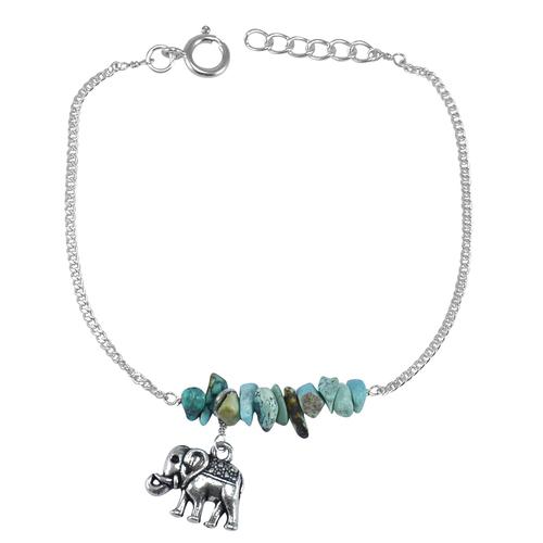 Turquoise Gemstone Jaipur Rajasthan India 925 Sterling Silver Bracelet Handmade Jewelry Manufacturer