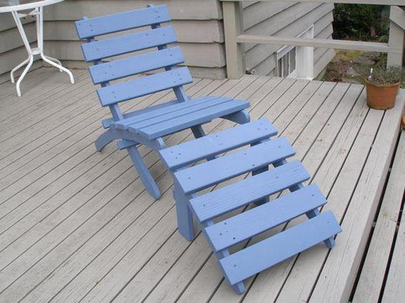 Handmade wooden chaise lounge, Classic Chair, Garden Chair, Beach Chair