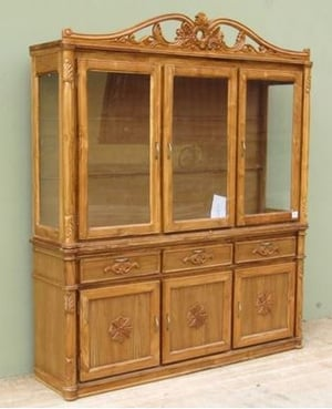Carved Wooden China Cabinet