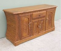 Carved Wooden Cabinet Table