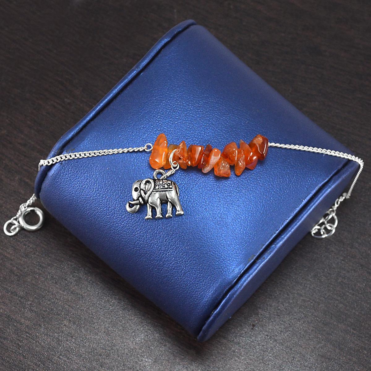 Carnelian Gemstone Handmade Jewelry Manufacturer 925 Sterling Silver Bracelet Jaipur Rajasthan India