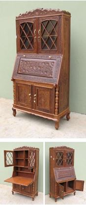 Solid Wooden Study Cabinet