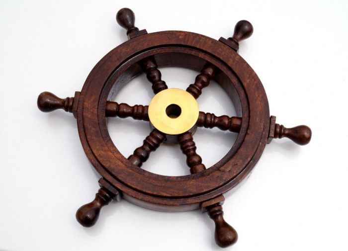 Wood Mini Ship Wheel 9.5 Inch