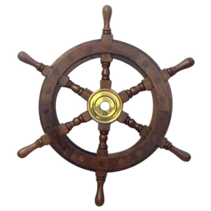 Wooden Ship Wheel 12 Inch
