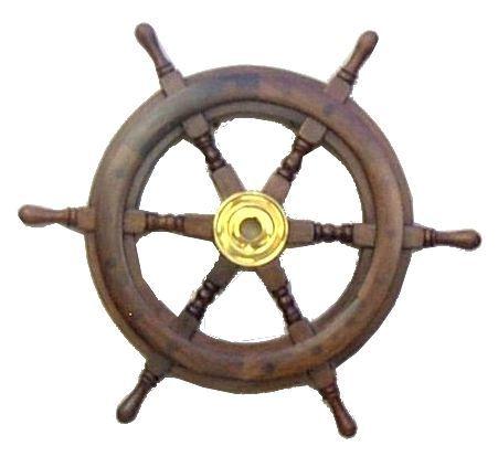 Wooden Ship Wheel 15 Inch