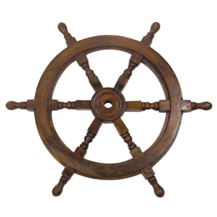 Wooden Ship Wheel 24 Inch
