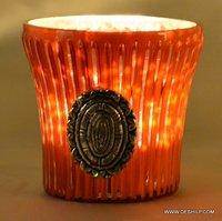 Decorative Orange T Light Candle Votive