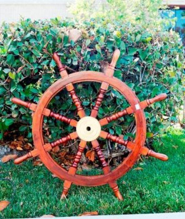 Sheesham Wood Ship Wheel 36 Inch