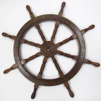 Ship Wheel Wooden Center 36 Inch