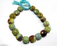 Natural Boulder Opal Cushion Shape Briolette beads