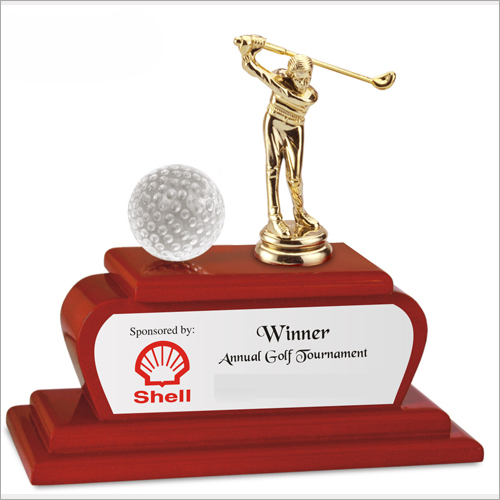 Metal Golf Trophy