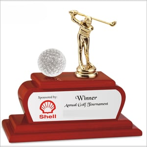 Metal Golf Trophy