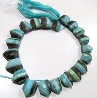 Natural Boulder Opal Bullet Shape Briolette Beads