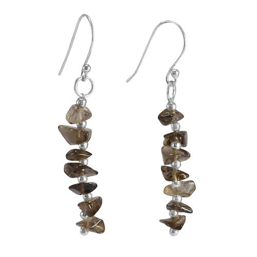 Smoky Quartz Handmade Jewelry Manufacturer 925 Sterling Silver Dangle Earring Jaipur Rajasthan India