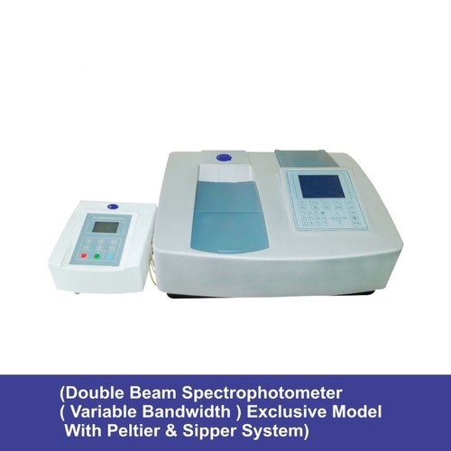 Double beam spectrophotometer  variable bandwidth with Peltier & sipper system