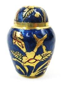 Brass Keepsake Urn Set (Blue)
