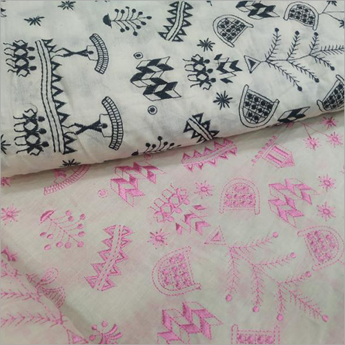 Embroidered Cotton Fabric