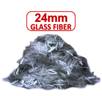 24 MM Glass Fiber For Construction Concrete
