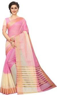 Fancy Plain Cotton Silk Saree 2D Colour