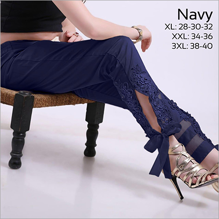 Navy Blue Lace Pant