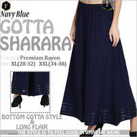 Navy blue gotta sharara