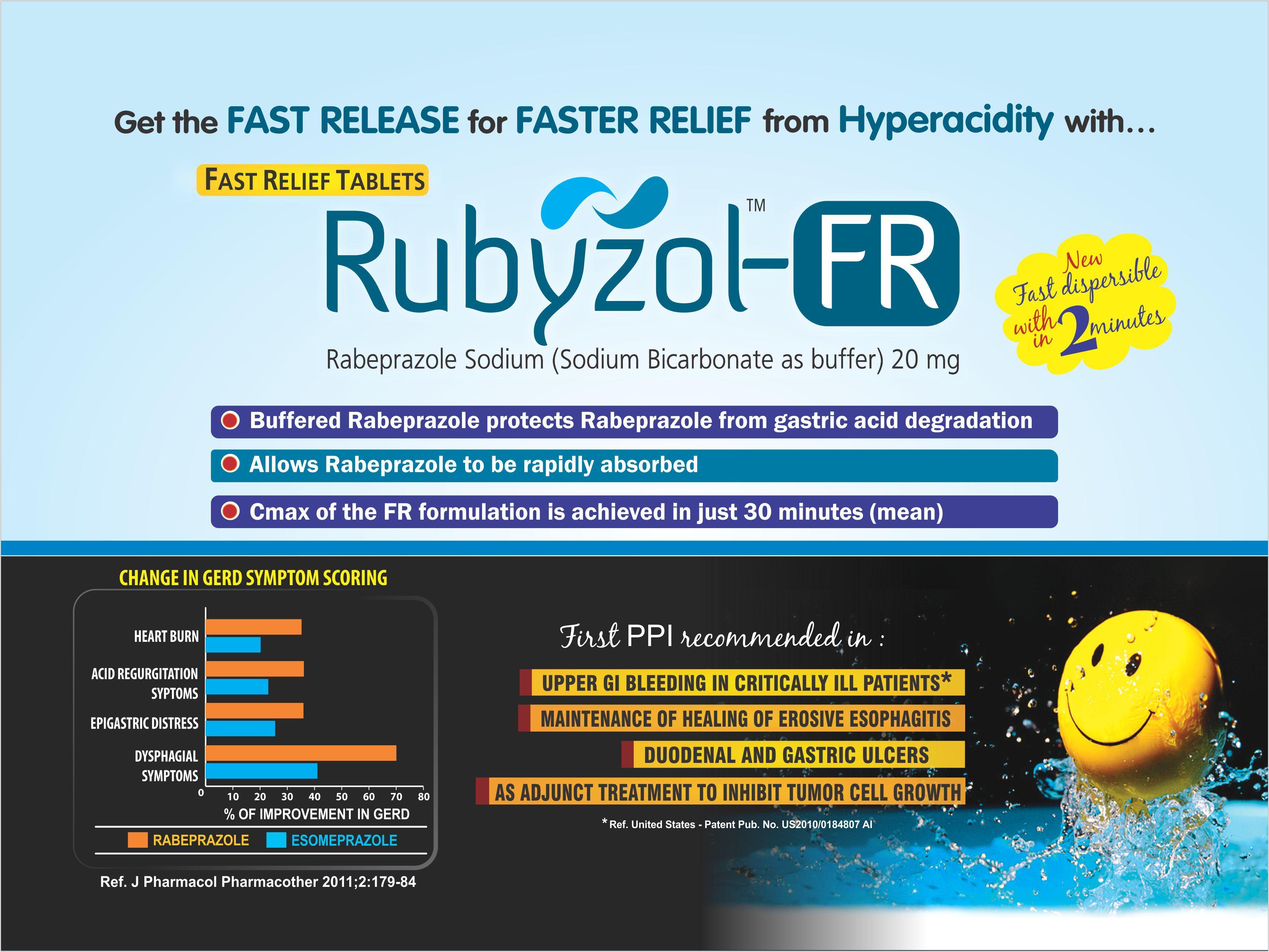 Rabeprazole 20 mg with Sodium Bicarbonate