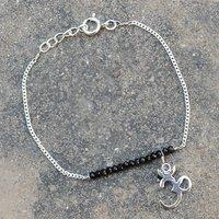 Jewelry Manufacturer Bracelet Black Onyx Gemstone Jaipur Rajasthan India 925 Sterling Silver New Bracelet