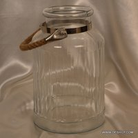 Big Glass Jar With Rope Hanger
