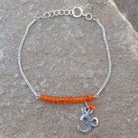 Jewelry Manufacturer Bracelet Carnelian Gemstone 925 Sterling Silver New Bracelet Jaipur Rajasthan India