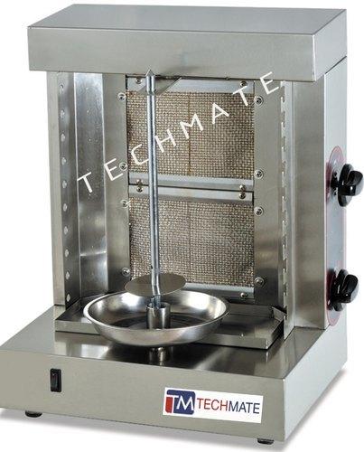 2 burner gas shawarma machine