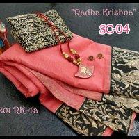 Designer Partywear Chanderi Silk Saree