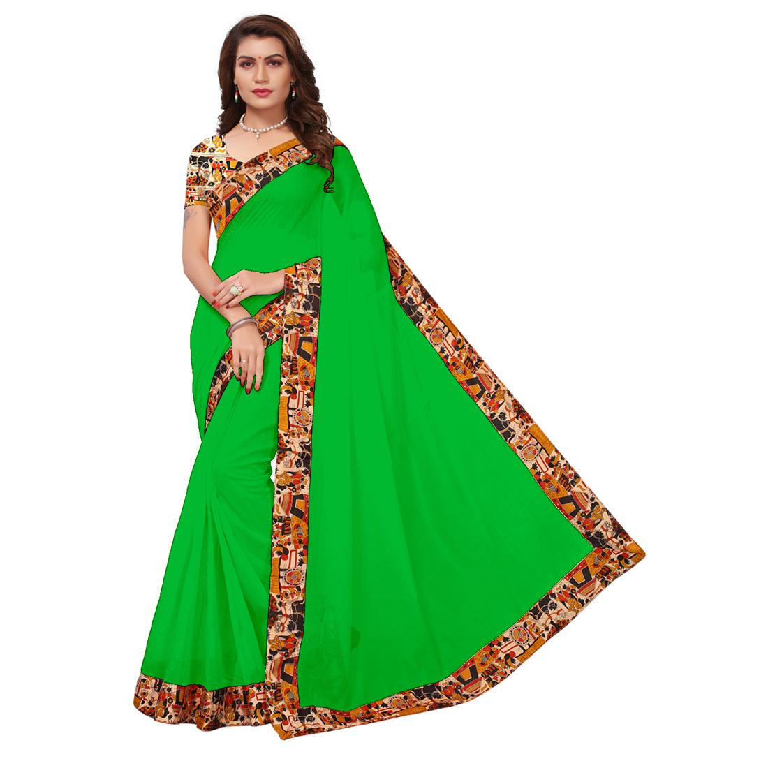 Daily Wear Chanderi Silk Saree, Designer Saree