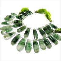 Natural Moonstone Green Zebra Jade Pear Shape Jewelry Making Beads