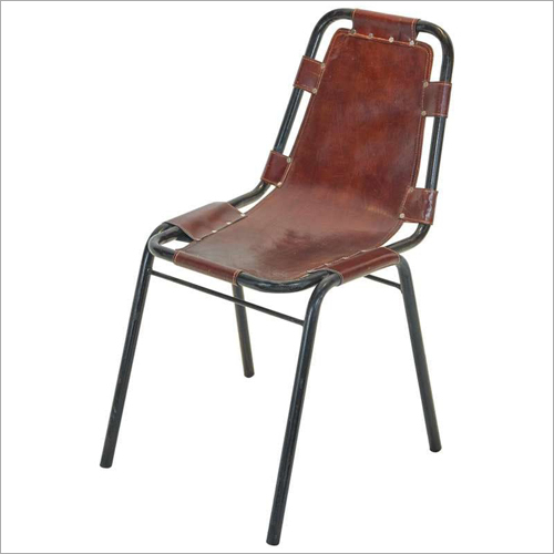 Wrought Iron Leather Chair