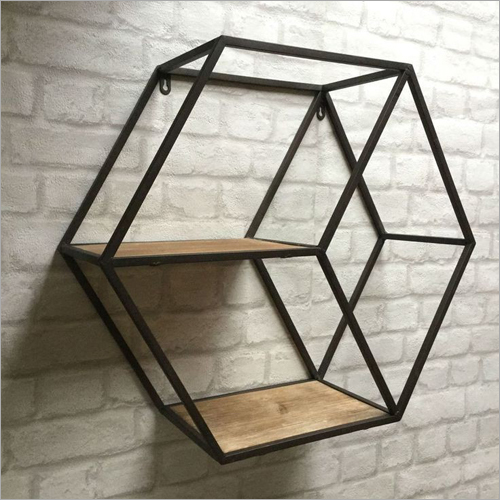Wrought Iron Wall Mounted Book Shelf