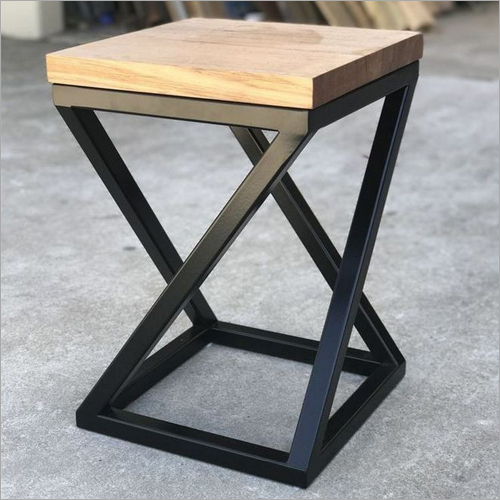 Wrought Iron Wooden Stool