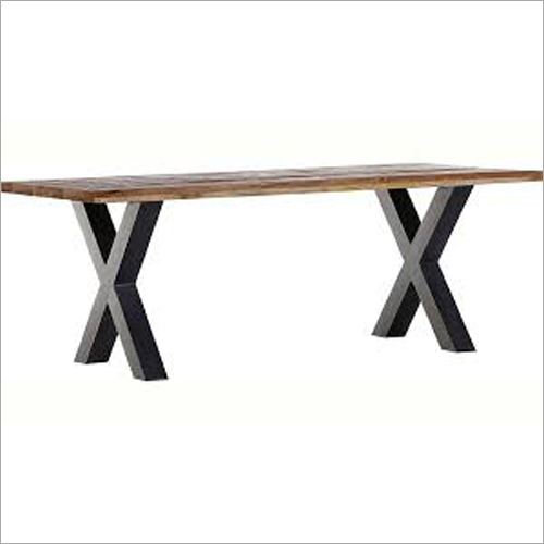 Wrought Iron Wooden Table