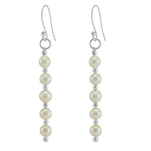 Handmade Jewelry Manufacturer Pearl Gemstone 925 Sterling Silver Dangle Earring Jaipur Rajasthan India