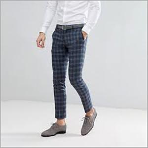 Mens Formal Check Pant