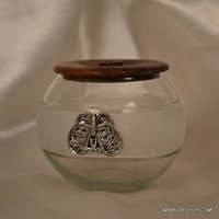 Glass Decor Bowl With Lid