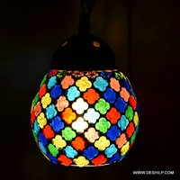 Small Mosaic Wall Hanging Lamp