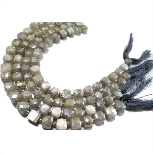 Natural Grey Moonstone AB Coated Leaf  Shape Briolette Beads 10x14mm to 12x20mm.
