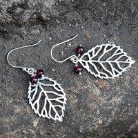 Jaipur Rajasthan India 4 mm Round Garnet Gemstone 925 Sterling Silver Earring Handmade Jewelry Manufacturer