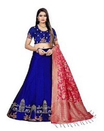 Art Banarasi Silk Lehenga Choli For Ladies
