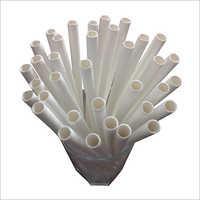 Jumbo Plain White Paper Straw