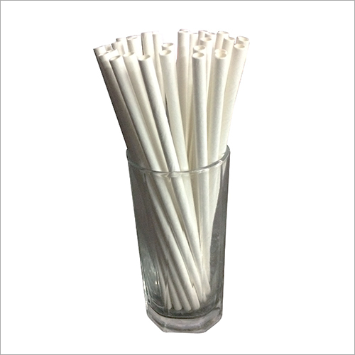 Plain White Paper Straw