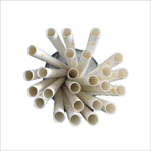 Disposable White Paper Straw