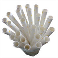 Plain Wrapped Paper Straw